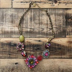 Betsey Johnson multicolored gem pendant necklace